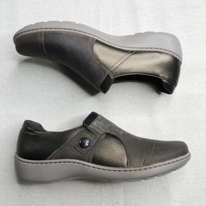 CLARKS Cora Leather Slip On Shoes